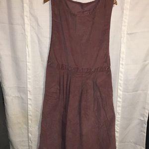 LL Bean Vintage mauve corduroy dress 18